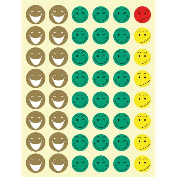 12 Hojas  Gomets Mr Smiley Apli 11680