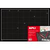 Tabla de Corte Premium Negra 450 x 300 mm A3 Apli 13919