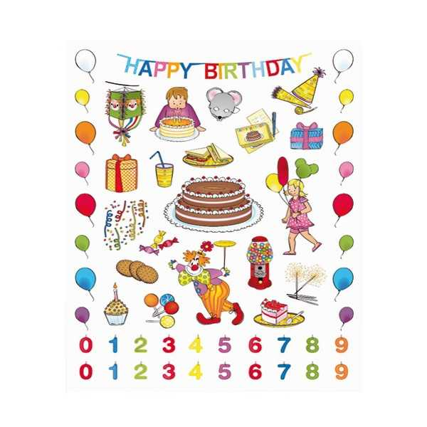 Gomets Cumpleaños Con Olor Chocolate Apli 11621