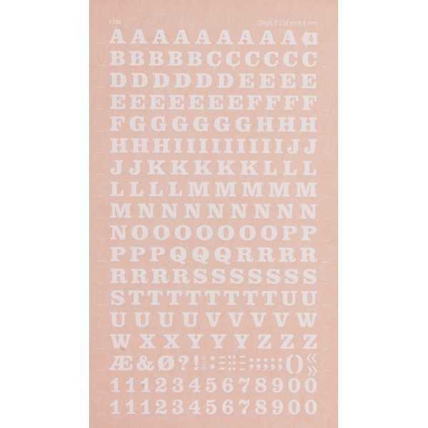 Letras y Números Transferibles Color Blanco 6 mm Apli DDB4F