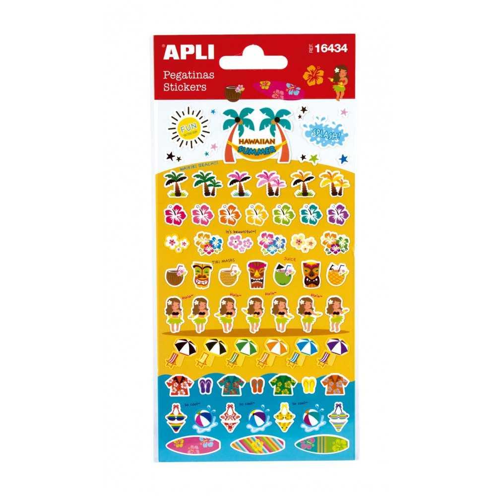 1 Hoja Pegatinas Stickers Motivo Hawaii Apli 16434 compraetiquetas.com