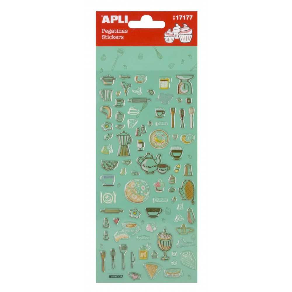 Stickers - Postres colores Apli 17177