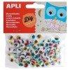 100 Ojos Redondos de Colores Móviles y Adhesivos Apli 13265