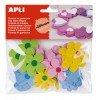 Goma Eva Adhesiva Forma Flores Colores Surtidos Apli 15140
