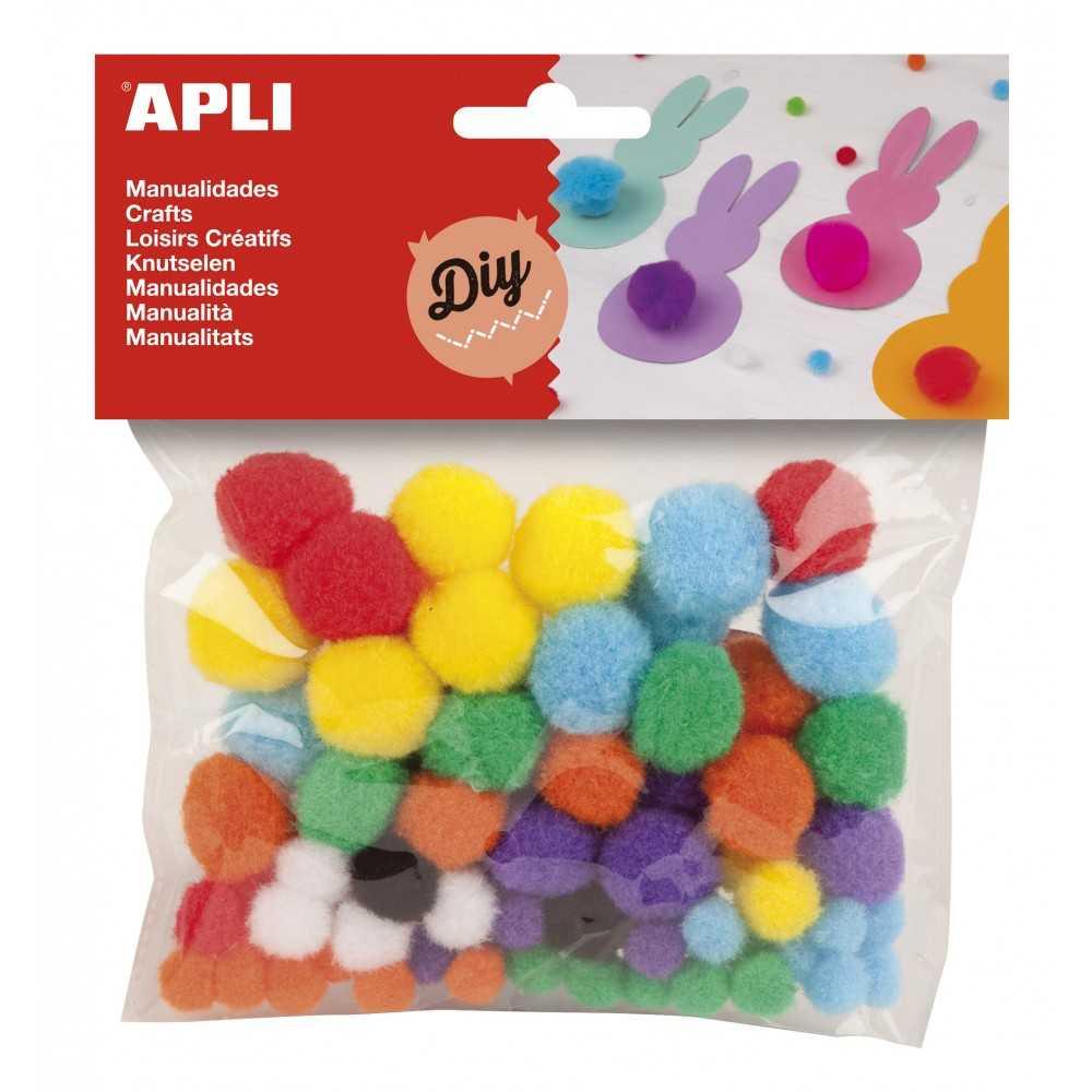 Pompones de Colores y Medidas Surtidas Apli 13061 Compraetiquetas