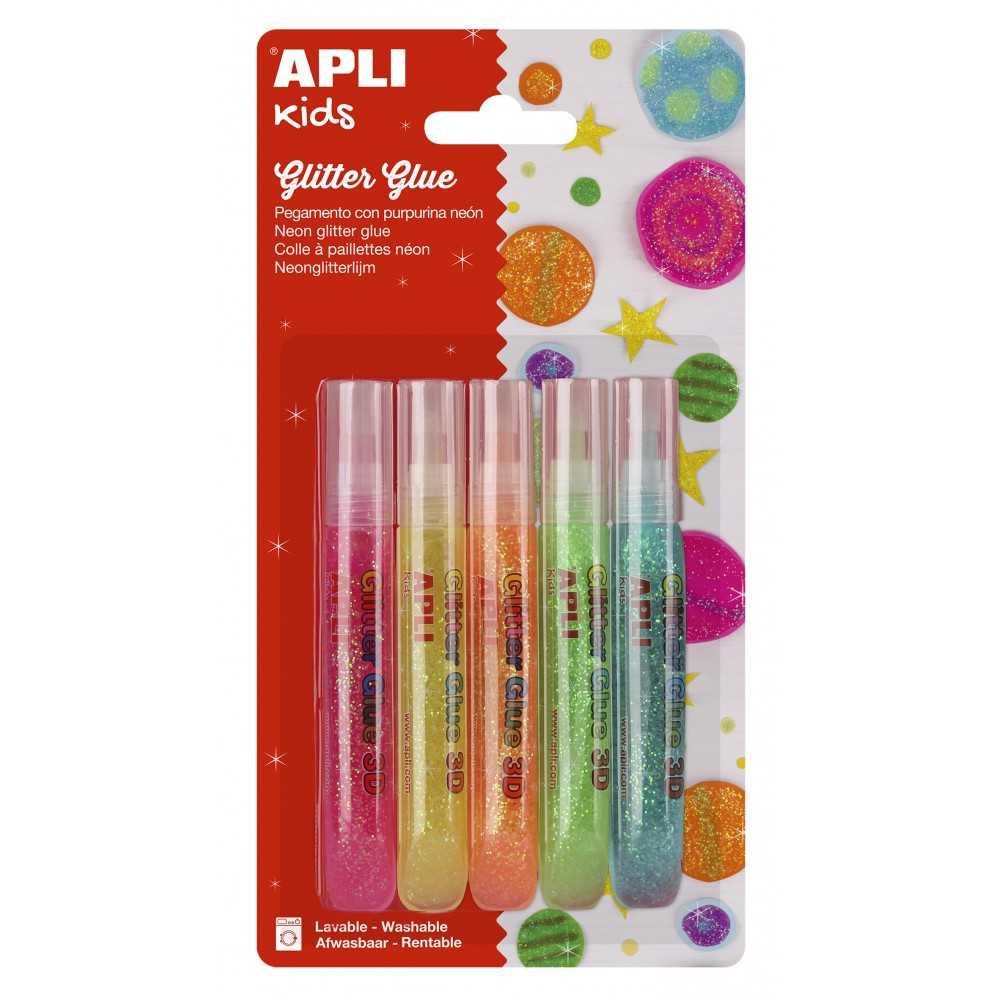 Pegamento Purpurina Colores Flúor 5 Uds Apli 13224
