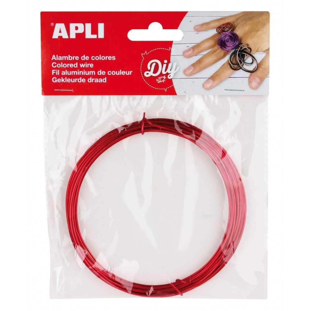 Alambre de Color Rojo 1.5mmx5m Apli 14097