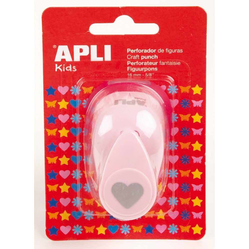 Perforadora de Papel Forma Corazón 16mm Apli 13068