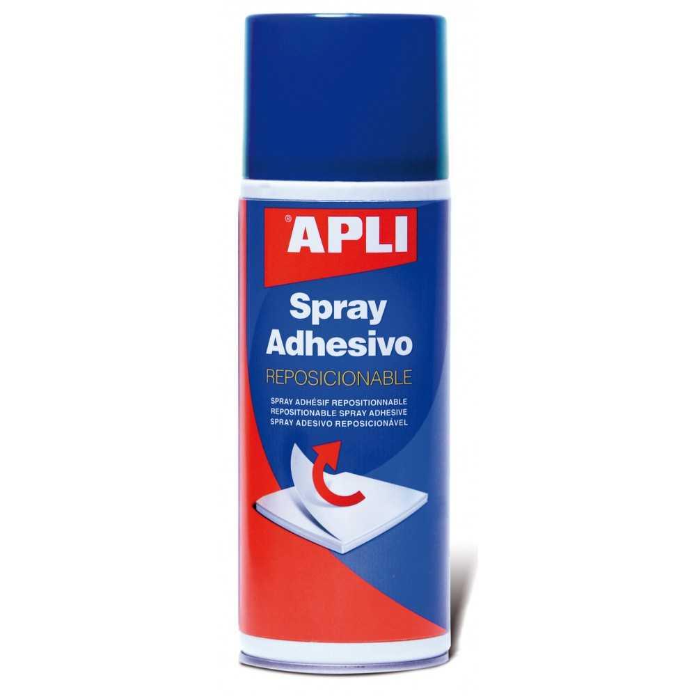 Adhesivo en Spray Reposicionable 400ml Apli 12088