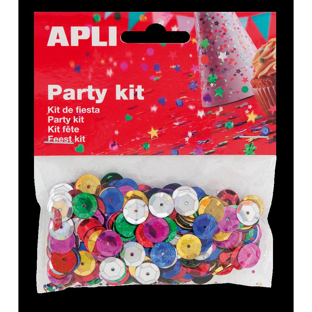 Party Kit Circulos Relieve ø 11mm Lentejuela Confeti Color Apli 13819 compraetiquetas.com