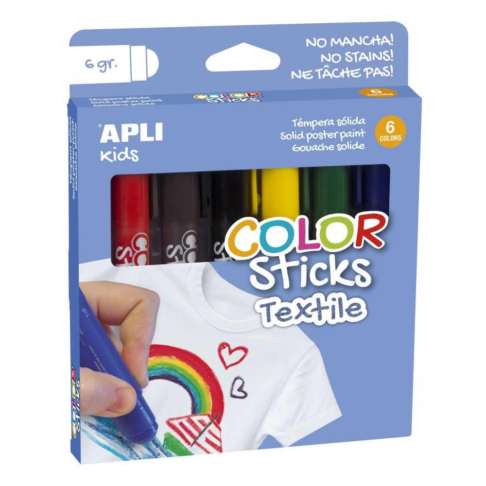 Temperas Solidas Para Escribir Sobre Textil 6 Colores Apli 17539