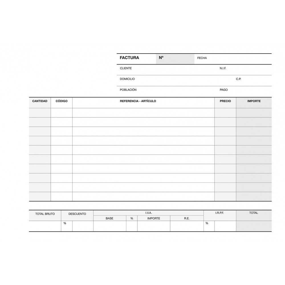 Talonario Factura Castellano Triplicado 210 x 145 A-66 Apli 13745 compraetiquetas.com