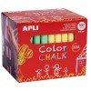 100 Tizas Redondas de Colores , Para Pizarra Verde Apli 14575