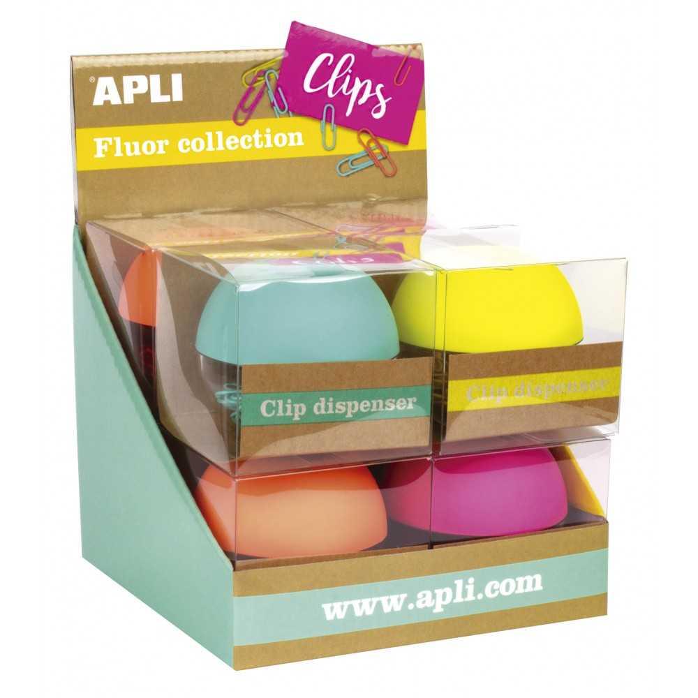 Portaclips Imantado de Colores Fluor Surtidos Apli 16905 compraetiquetas.com