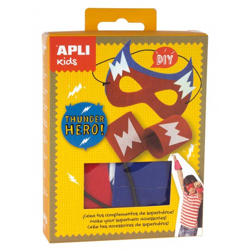 Mini Kit Máscara Super héroe Rjoa Azul Apli  14715