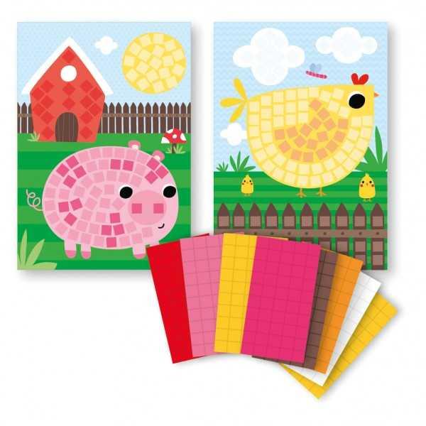 Mini Kit Mosaico animales granja Apli 14487