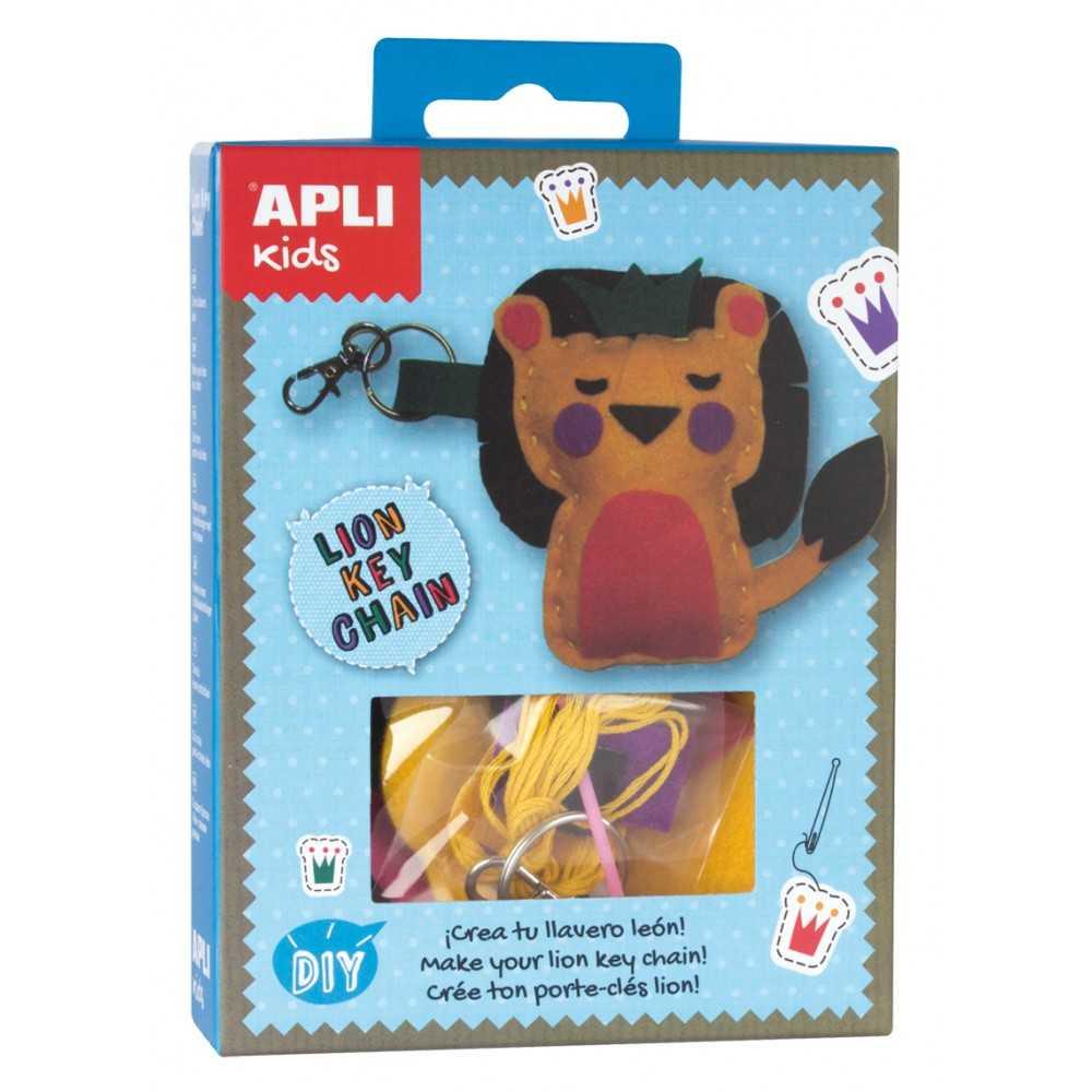 Mini Kit Llavero fieltro león Apli 14719