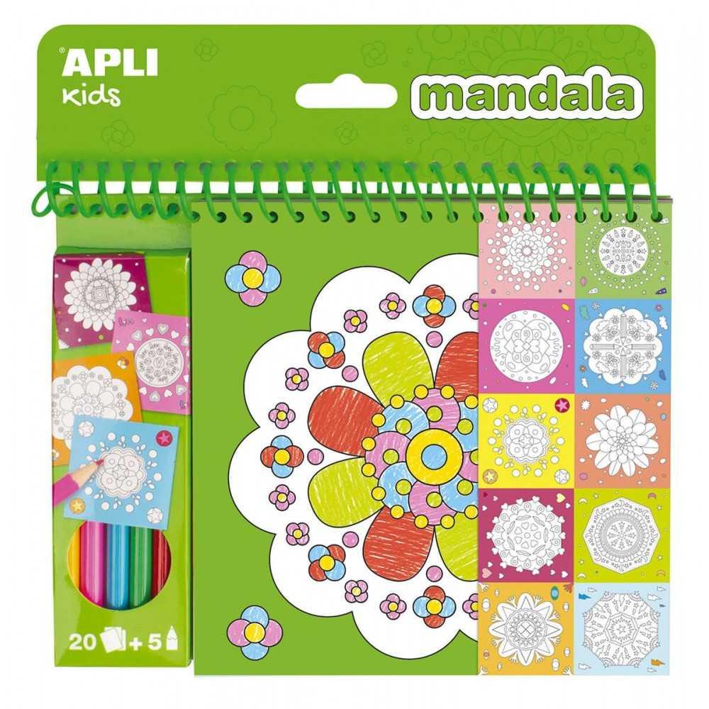 Bloc pinta y colorea Mandala 20 Hojas Apli 17151