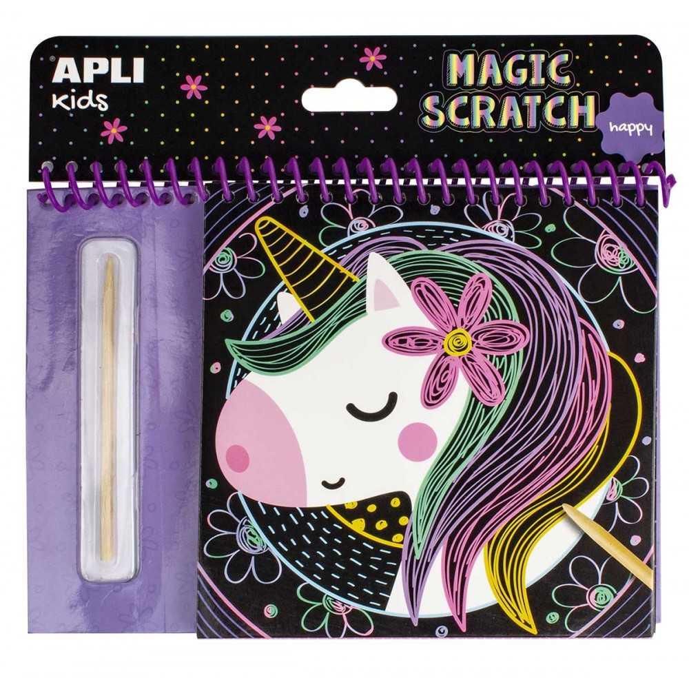 Libro Colorear Rascando Magic Scratch