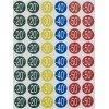 Etiquetas Circulares de Descuentos ø24 mm 5H Apli 101373