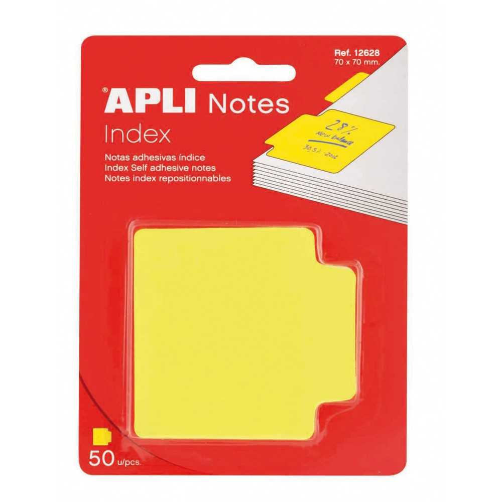 Ïndices adhesivos amarillo. Apli. 12628