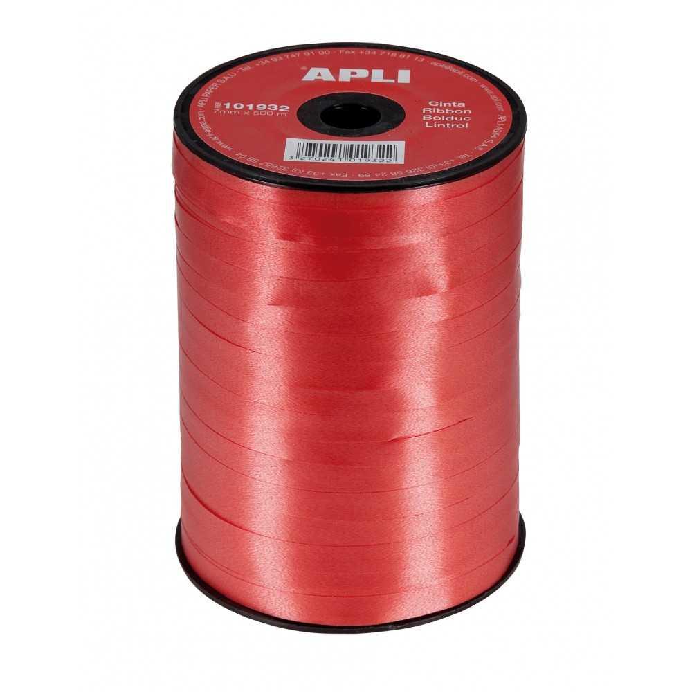 Cinta de Regalo Color Rojo 7mm x 250m Apli 101932