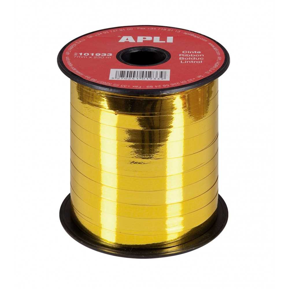 Cinta de Regalo Color Oro Metalizado 7mm x 250m Apli 101933