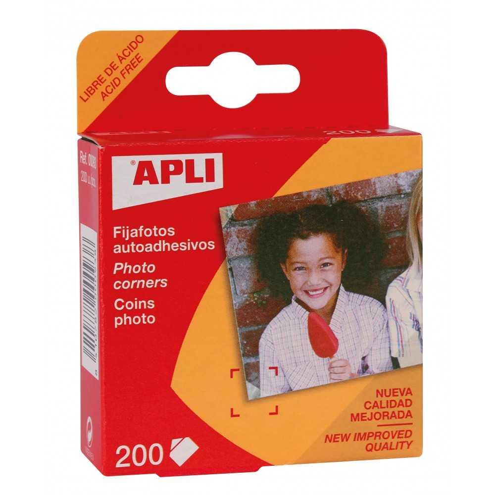 Etiquetas Fija Fotos en Caja Dispensadora Apli 00093