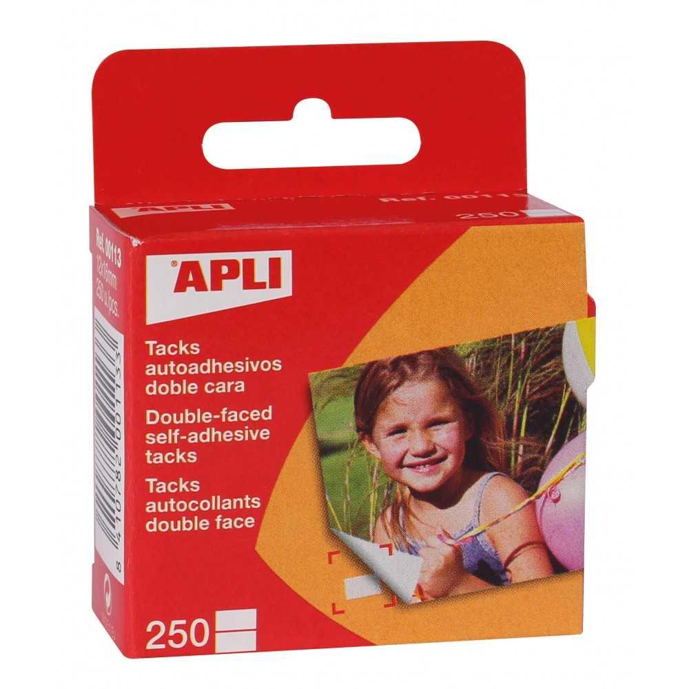 Tacks Adhesivos Transparentes de doble cara 12x16mm Apli 00113
