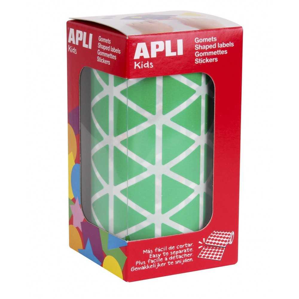 Rollo Gomets Triangulares Verdes 20x20x20 mm Apli 04870
