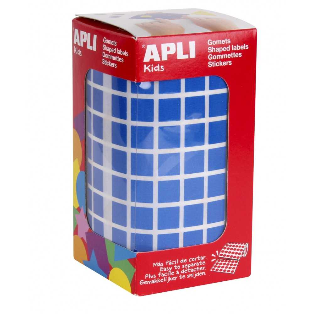 Rollo Gomets Cuadrado Color Azul 10mm Apli 04872 compraetiquetas.com