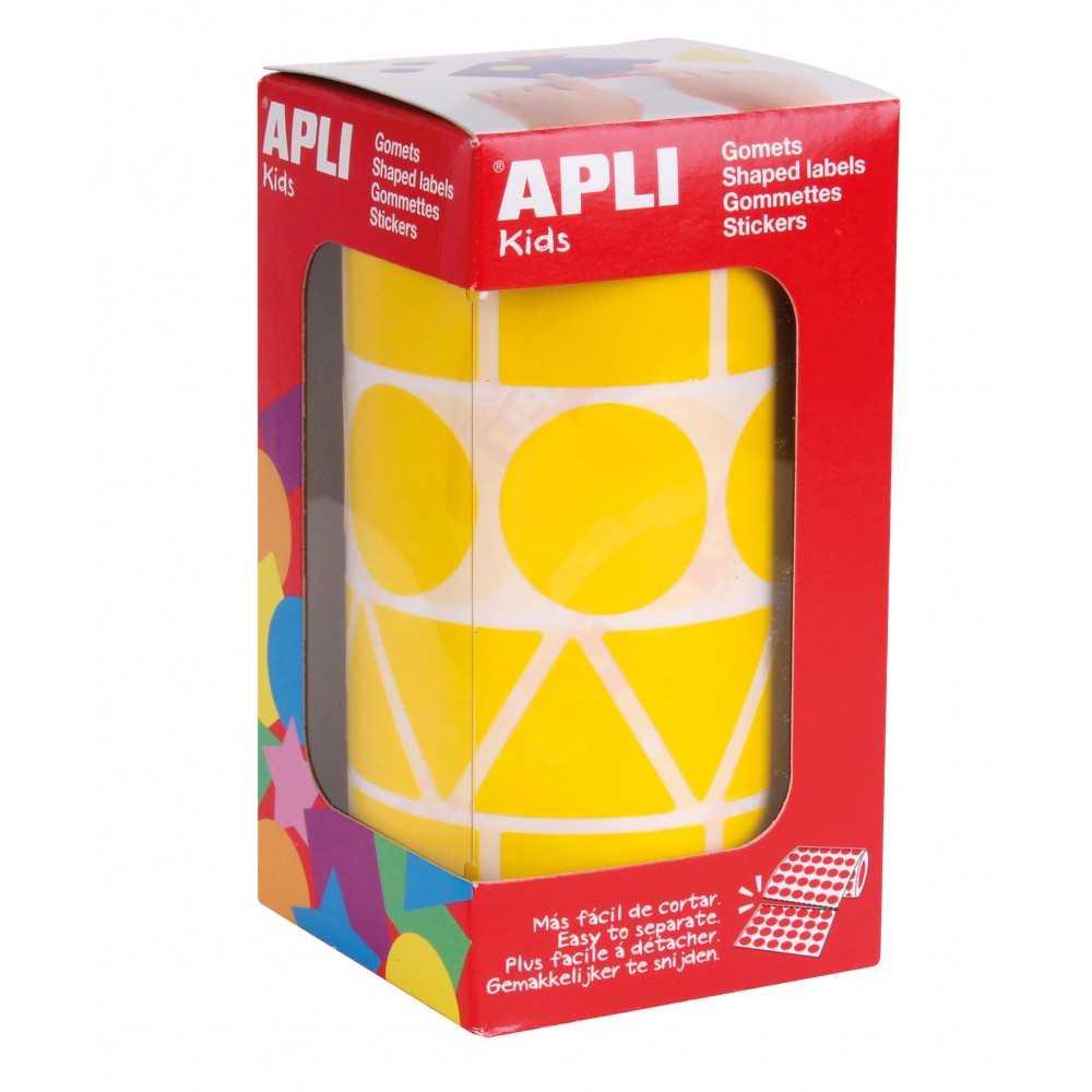 Rollo Gomets Formas Geométricas Amarillas XL Apli 11160