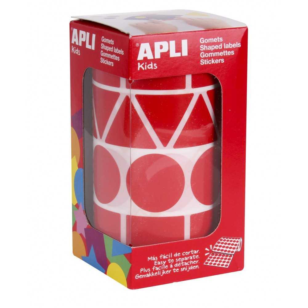 Gomets Gigantes Formas Geometricas Color Rojo Apli 11163 compraetiquetas.com