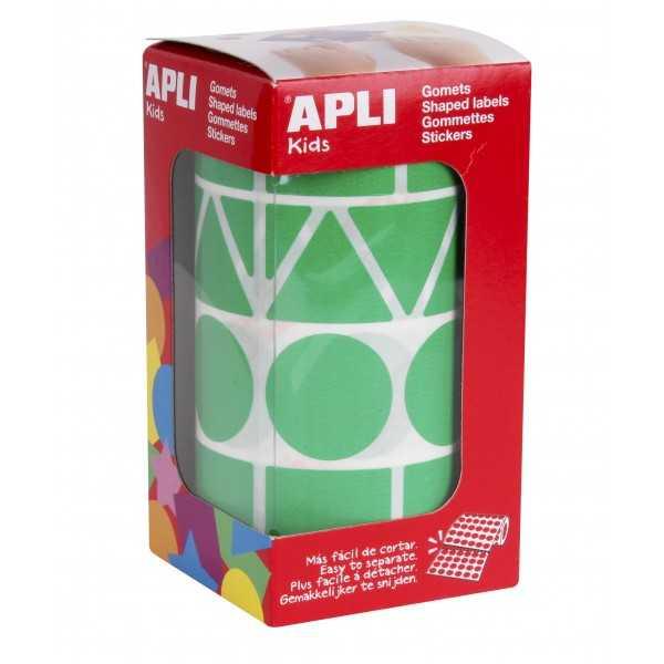 Gomets Gigantes Formas Geometricas Color Verde Apli 11164 compraetiquetas.com