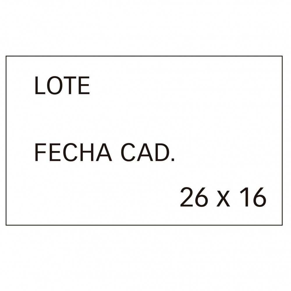 6 Rollos Etiquetas Precio Lote/Fecha Cad. Removible 26x16mm Apli 101950 compraetiquetas.com