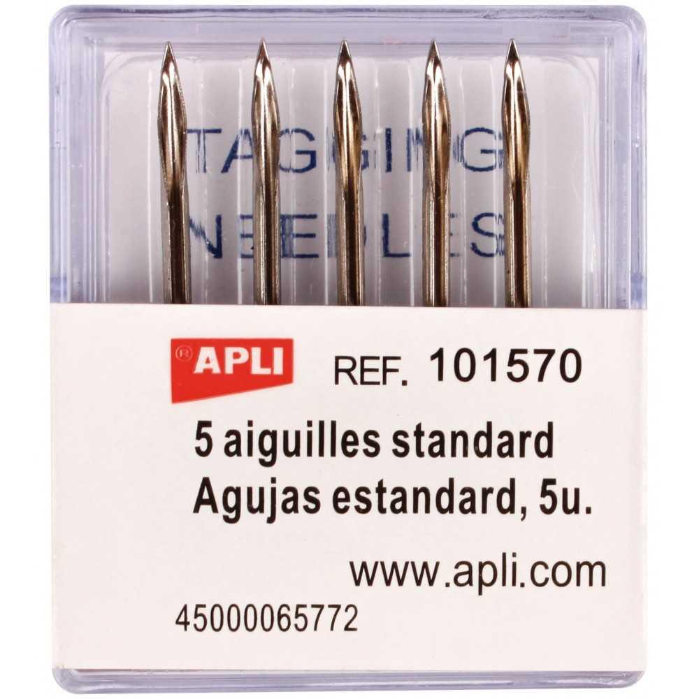 Recambio de 5 Agujas Estandar Pistola Navetes Apli 101570 compraetiquetas.com