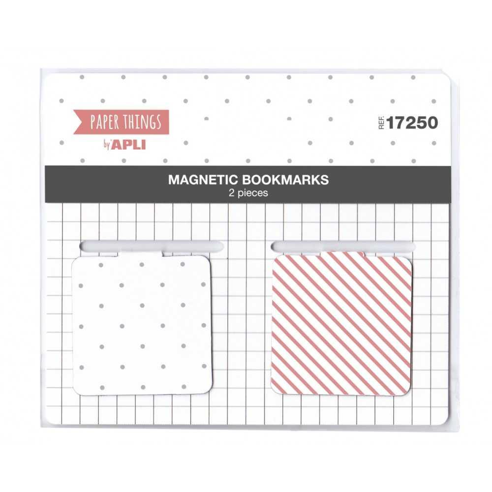 Marcador Magnético Blanco/Rosa Apli 17250 compraetiquetas.com