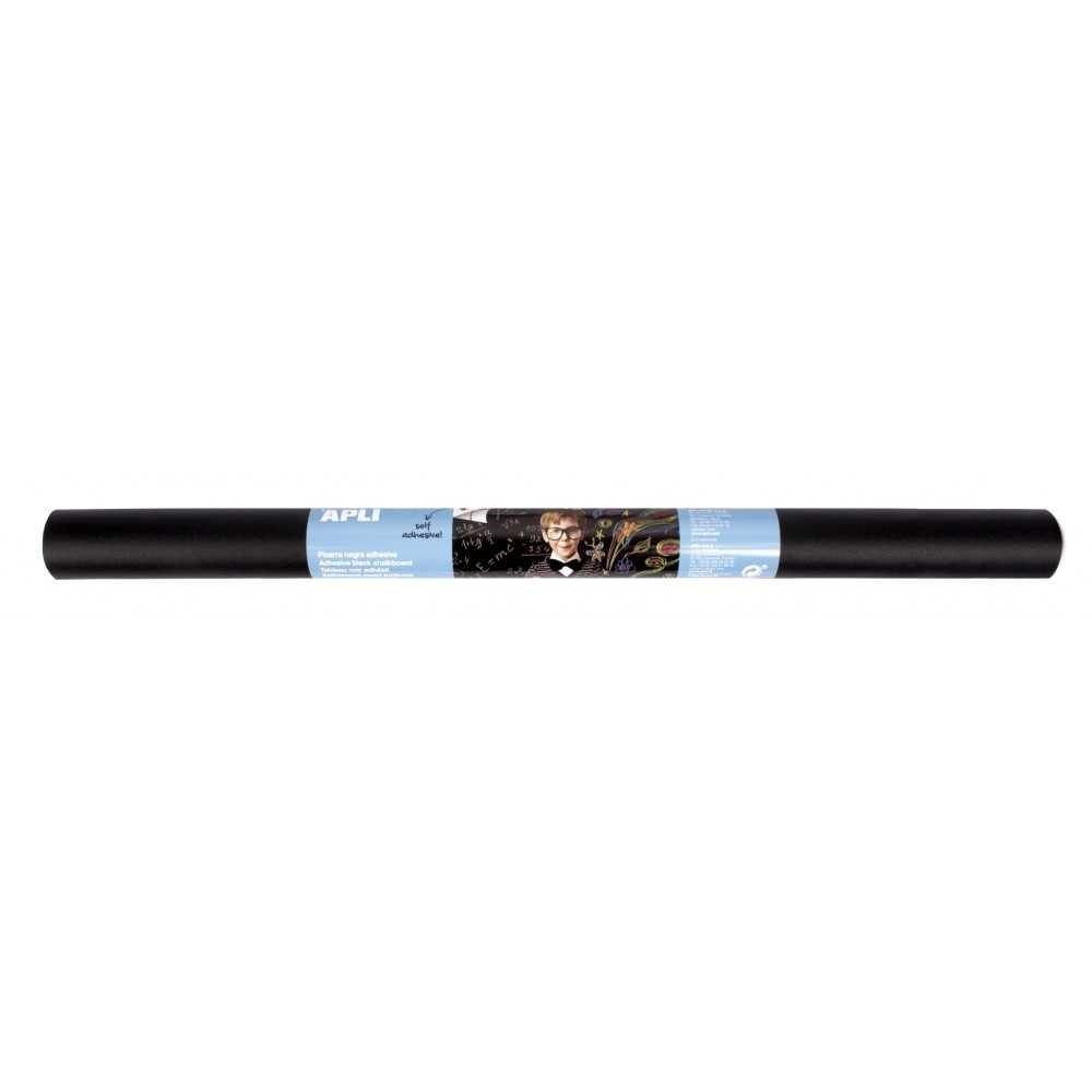 Rollo de Pizarra Negra Adhesiva 2 m x 0.50 cm Apli 17166 compraetiquetas.com