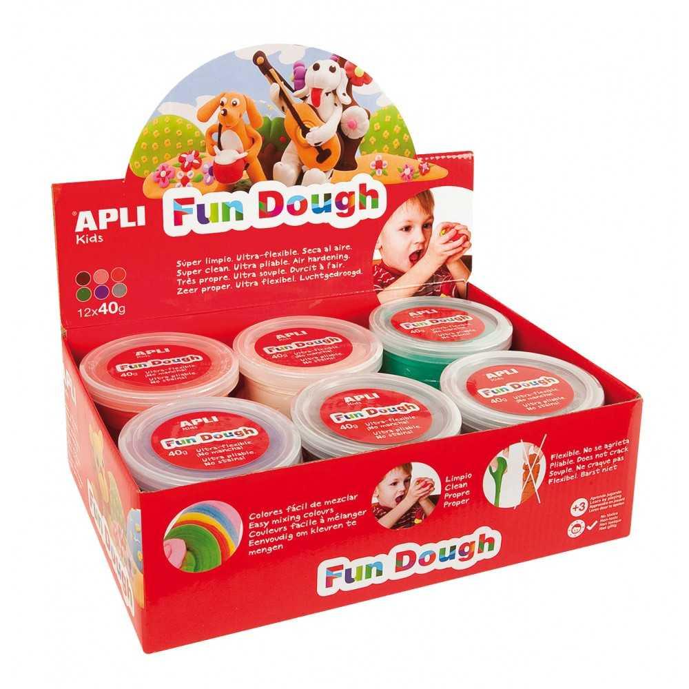 Expositor Plastilina Fun Dough 12 Unidades Apli 13451
