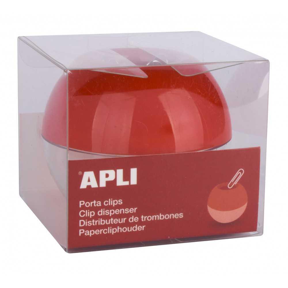 Porta Clips Imantado Rojo + 35 clips Apli 13351