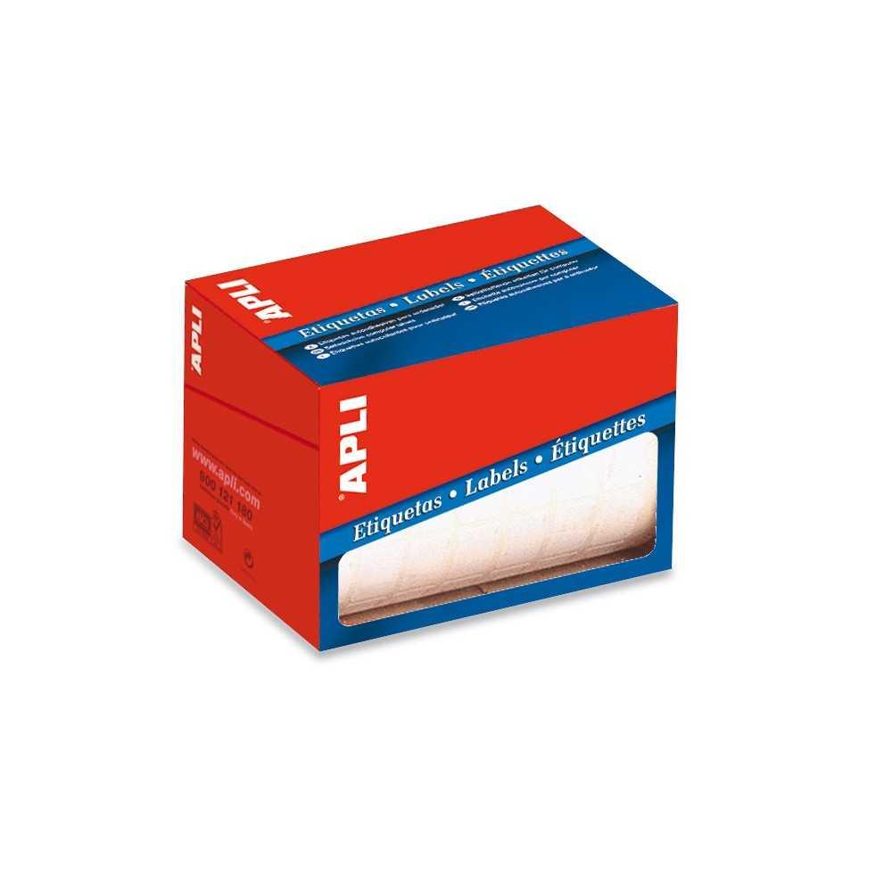Etiquetas Blancas en Rollo Rectangulares 20 x 75 mm Apli 01687 compraetiquetas.com