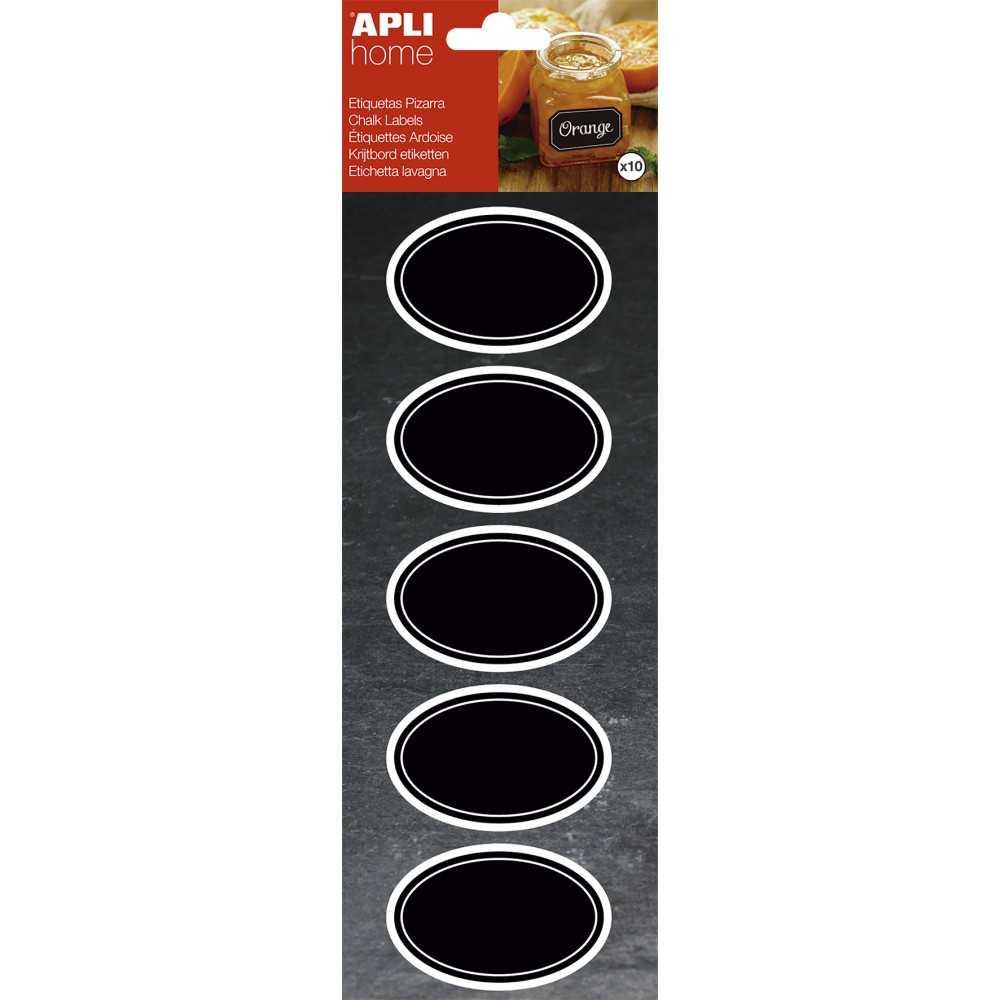 Etiquetas Removibles de Pizarra Ovaladas 65x41mm Apli 16768 compraetiquetas.com