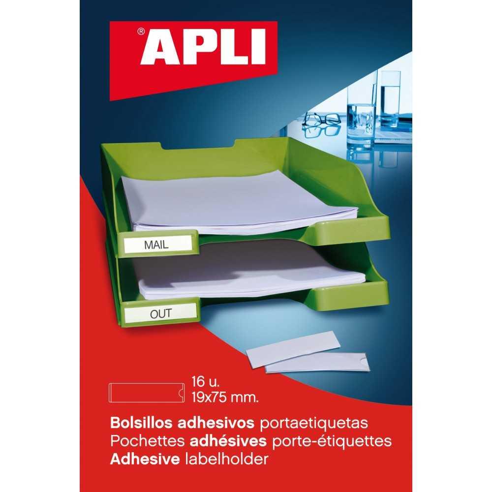 Bolsillos Autoadhesivos Portaetiquetas 55x102mm Apli 02614 compraetiquetas.com