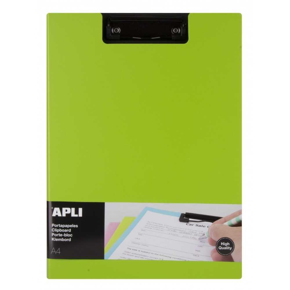 Porta Papeles Con Pinza y Solapa Polipropileno Color Verde Menta Premium A4 Apli 17207 compraetiquetas.com