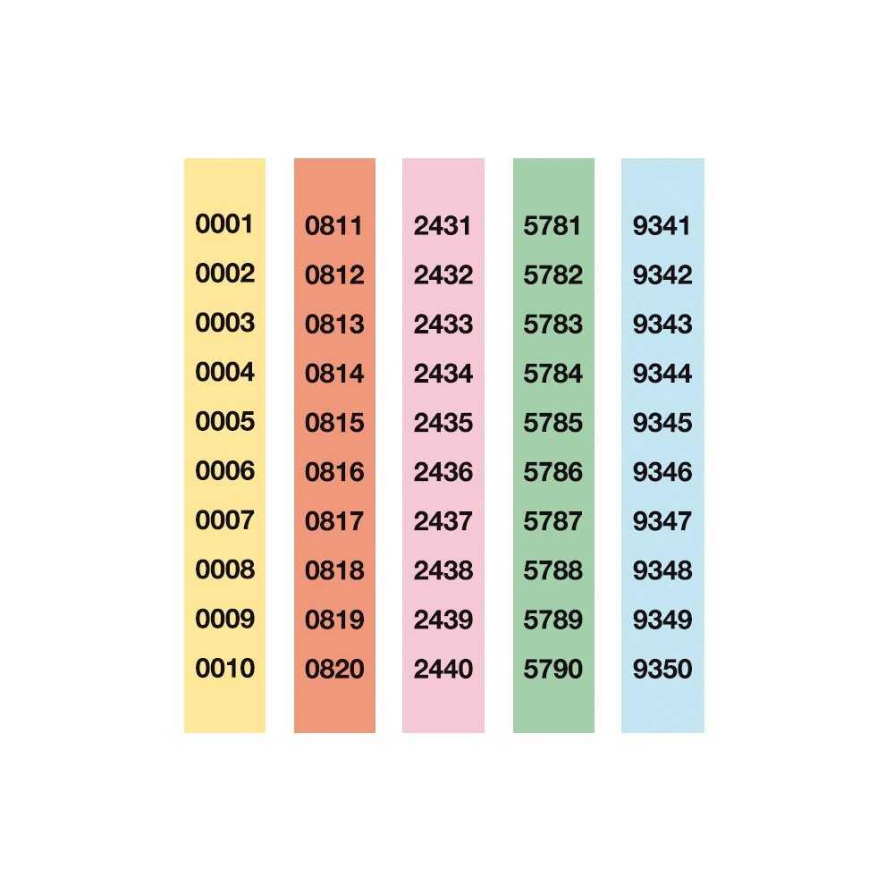 Tiras de Rifa Lluminetas del 1 al 10.000 210x30 mm Apli 13110