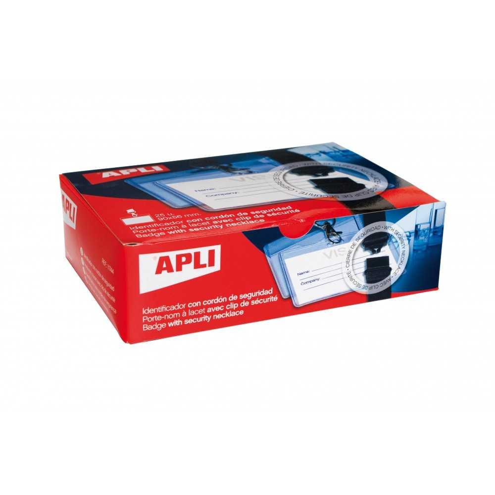 Identificadores Con Cordón , Transparentes 90x56mm Apli 11744 compraetiquetas.com