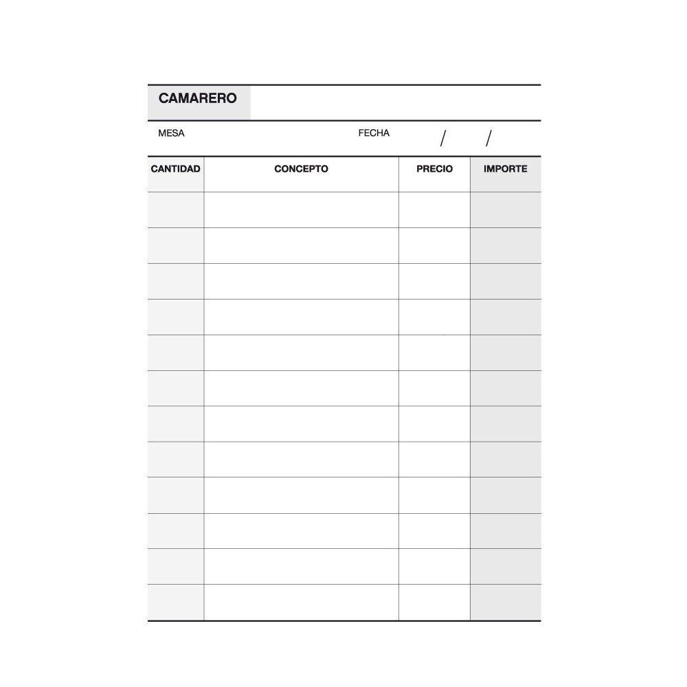 Talonario de Notas Camarero triplicado 105x145mm Apli 12689 compraetiquetas.com