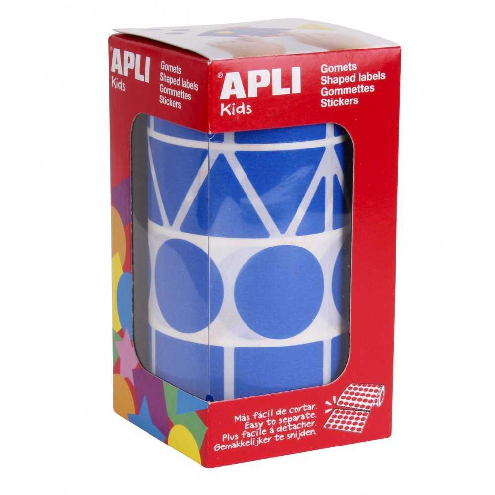 Gomets Gigantes Formas Geometricas Color Azul Apli 11162 compraetiquetas.com