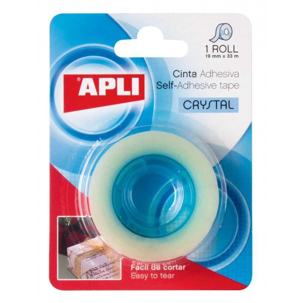 Cinta Adhesiva Cristal en Blister 19 mm x33 m Apli 11167 compraetiquetas.com