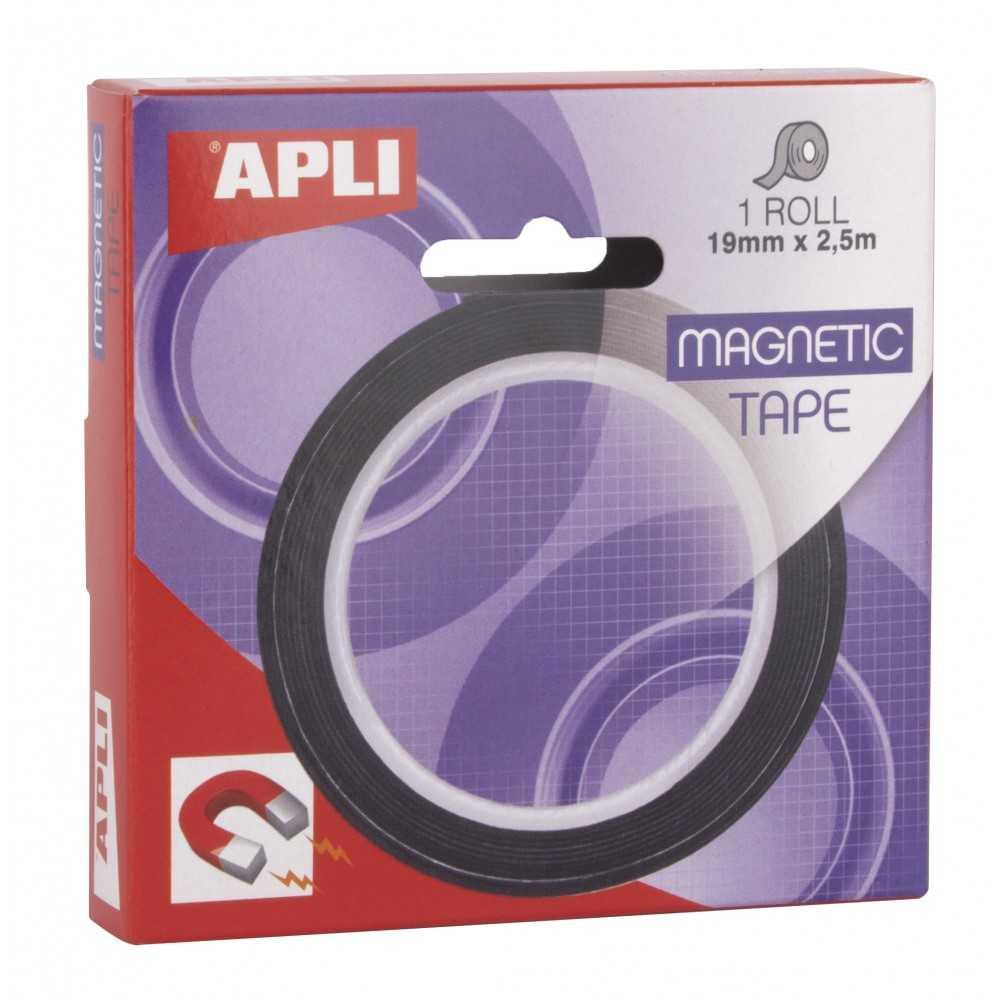 Rollo Cinta Adhesiva Magnética 19 mm x 2,5 m Apli 17724